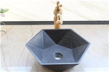 China Blue Limstone Sink, Stone Washbasin