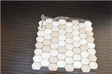 Beige Color Marble Long Hexagonal Mosaics