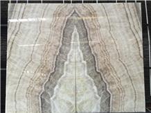 China Beige Onyx Bookmacth Slab/Wall Backlit Stone