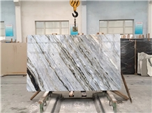China Blue Marble Walling Slabs& Cut to Size Tiles