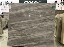 China Grey Crystal Wood Grain Marble Walling Slabs