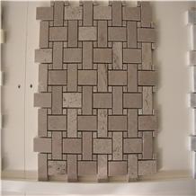 Crema Marfil Marble Basketweave Marble Mosaics
