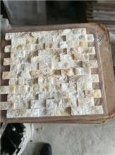 Honey Onyx Marble Split Faced Marble Mosaics