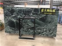 Italy Green Wood Grain Marble Slabs Tiles