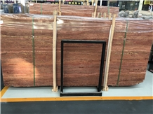 Polished Red Travertine Wall&Floor Covering Slab