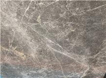 Polished Zebra Grey Marble Slab & Tiles