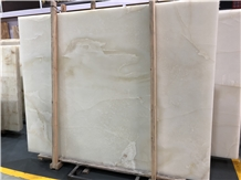 Pure White Onyx Slab for Floor&Wall Covering Stone
