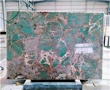Amazon Green Blue Verde Ubatuba Bahia Granite Slab