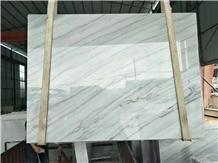 Cheap Guangxi White Marble Popular Slab Tile