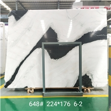 China Panda White Marble Popular Color Slab