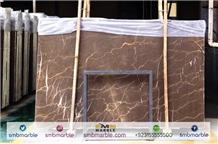 Sea Life Grey Pakistani Fossil Brown Marble Slabs