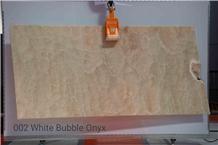 White Bubble Onyx Slabs