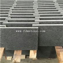 New Jet Black Granite Stone Flamed Paver