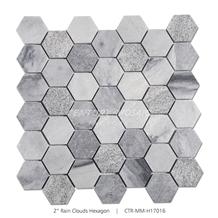Century Mosaic 2 Hexagon Gray Marble Mosaic