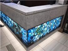 Gemstone Blue Agate Bar Countertops