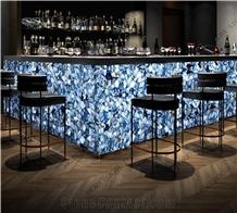 Precious Blue Stone Aventurine for Bartop Table