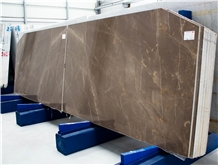Armani Bronze Slabs, 2 Cm, Bookmatched Gris Pulpis Marble