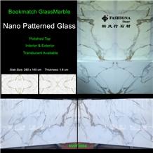 Bookmatch Nano Glass Slab,Interior & Exterior.