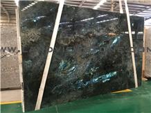 Lemurian Blue Granite Slab, Labradorite Blue Tiles
