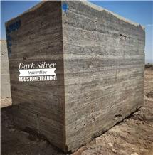 Silver Travertine, Iran Grey Travertine Block