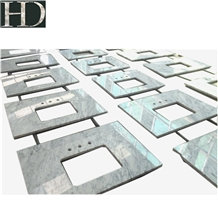 Bianco Carrara White Natural Marble Top Countertop