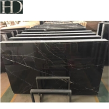 Black Nero Marquina Chinese Marble Slab Tile Floor