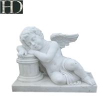 Handcarved Art Sculpture Stone Angel Statue Bust
