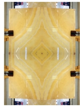 Lb Perfect Peach Onyx Yellow Gold Onix Slab