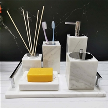 Bathroom Set Accessorie Vokala Marble Stone