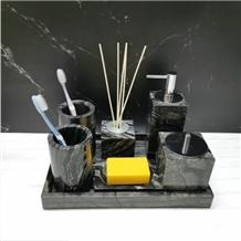 Black Wooden Marble Bathroom Sets for Hotels