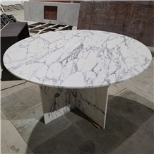 Marble Round Rectangle Stone Cafe Tables Design