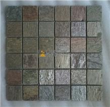 Golden Quartzite Mosaic Tiles