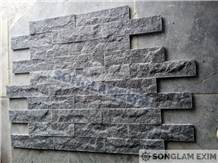 Crystal Black Split Face Cladding Stone