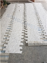 Crystal White Marble Z Shape Wall Panel