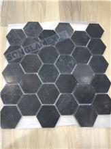 Honed Bluestone Hexagon Mosaic