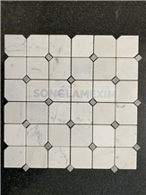 Milky White Marble Polished Octagon Mosaic