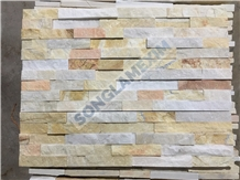 Mix Color Marble Glued Wall Panel Stone