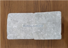 White Crystal Marble Split Surface Cobblestone