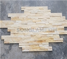 Yellow Crystal Marble Glued Z Shape Wall Panel