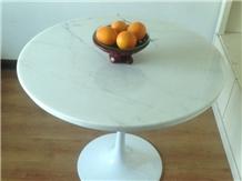 Round Dinning Tabletop, Bianco Carrara