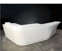 Unique Design White Marble Reception Desk