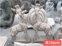 Animal Giraffe Manor Handcarved Stone Sculptures