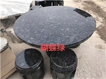 Butterfly Green Granite Outdoor Furniture Tables