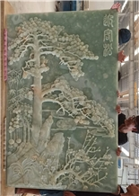 Embossed Courtyard Hotel Wall Relief Hanging Mural