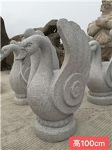 Goose Stone Sculpture Landscape Animal Product