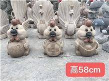 Landscape Cartoon Figure Stone Sculptures Carving