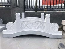 Natural White Marble Stone Carving Arch Bridge