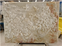 Relief Background Wall Landscape Decorative Mural