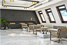 Danae Bianco Gala Marble Floor Application