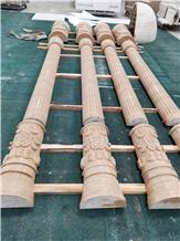 Beige Marble Natural Stone Column